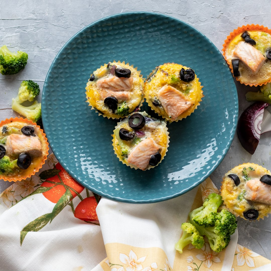 Vaječné muffiny s lososem